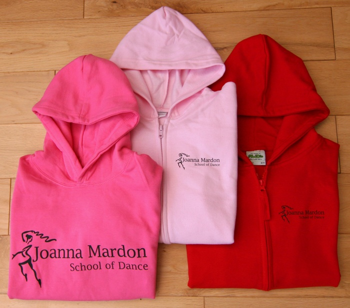 Joanna Mardon School of Dance Exeter new hoodie range